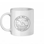 Praia da Luz White Mug with Line Drawn Logo