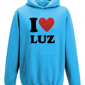 Praia da Luz Hoodie with the I LOVE LUZ Logo