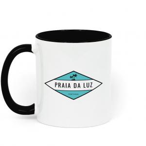 Praia da Luz Palm Ceramic Two Tone Mug